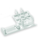 Strain relief plate; for 294 Series; for single strands; 3- to 5-pole; white
