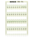 WSB marking card; as card; MARKED; L1 (100x); not stretchable; Vertical marking; snap-on type; white