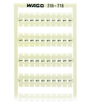 WSB marking card; as card; MARKED; 1 / 2 (50 each); not stretchable; Vertical marking; snap-on type; white