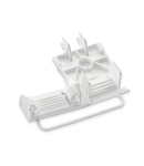 Strain relief plate; for 294 Series; for single strands; 3- to 5-pole; with secured clamp; white
