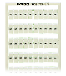WSB marking card; as card; MARKED; N (100x); not stretchable; Vertical marking; snap-on type; white