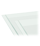 Marking strips; as a DIN A4 sheet; MARKED; 33-48 (160x); Height of marker strip: 3 mm; Strip length 182 mm; Horizontal marking; Self-adhesive; white