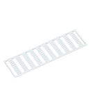 WMB marking card; as card; MARKED; a, b, c, e, u, v, w, x, y, z (10x); stretchable 5 - 5.2 mm; Vertical marking; snap-on type; white