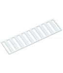WMB marking card; as card; MARKED; U3, V3, W3, U3, V3, W3, U3, V3, W3,... (10x); not stretchable; Horizontal marking; snap-on type; white