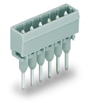 Male connector for rail-mount terminal blocks; 1.2 x 1.2 mm pins; straight; Pin spacing 5 mm; 16-pole; gray