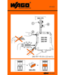 Stickers for operating instructions; for high-current terminal blocks; 285 Series