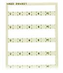 Mini-WSB marking card; as card; MARKED; U, , V, , W, , N, , PE; not stretchable; Horizontal marking; snap-on type; white