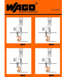 Stickers for operating instructions; for rail-mounted terminal blocks with CAGE CLAMP® COMPACT; 870 Series