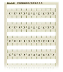 WSB marking card; as card; MARKED; X (100x); not stretchable; Horizontal marking; snap-on type; white