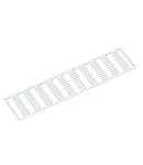 WMB marking card; as card; MARKED; U, V, W, N, PE, U, V, W, N, PE / L1, L2, L3, N, PE; stretchable 4 - 4.2 mm; Horizontal marking; snap-on type; white