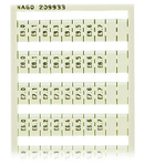 WSB marking card; as card; MARKED; E0.0, E0.1, ..., E9.6, E9.7 (1 each); not stretchable; Vertical marking; snap-on type; white