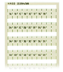 WSB marking card; as card; MARKED; 1A, 1B, ..., 1G, 1H, ... to 10A, 10B, ..., 10G, 10H; not stretchable; Horizontal marking; snap-on type; white