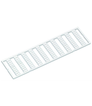 WMB marking card; as card; MARKED; a, b, c, e, u, v, w, x, y, z (10x); not stretchable; Horizontal marking; snap-on type; white