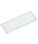 WSB marking card; as card; MARKED; U3, V3, W3, U3, V3, W3, U3, V3, W3,... (10x); not stretchable; Horizontal marking; snap-on type; white