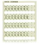 WSB marking card; as card; MARKED; A10.0, A10.1, ..., A19.6, A19.7 (1 each); not stretchable; Vertical marking; snap-on type; white