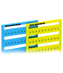 WSB marking card; as card; MARKED; k/l (each 50); not stretchable; Horizontal marking; snap-on type; yellow