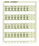 WSB marking card; as card; MARKED; A140.0, A140.1, ..., A149.6, A149.7 (1 each); not stretchable; Vertical marking; snap-on type; white
