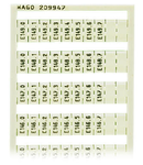 WSB marking card; as card; MARKED; E140.0, E140.1, ..., E149.6, E149.7 (1 each); not stretchable; Vertical marking; snap-on type; white