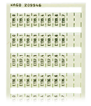 WSB marking card; as card; MARKED; E130.0, E130.1, ..., E139.6, E139.7 (1 each); not stretchable; Vertical marking; snap-on type; white