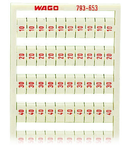 WMB marking card; as card; MARKED; 10, 20 ... 50 (20 each); not stretchable; Vertical marking; snap-on type; white