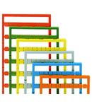 Mini-WSB marking card; as card; MARKED; U, V, W, N, PE, U, V, W, N, PE (10x); not stretchable; Horizontal marking; snap-on type; blue