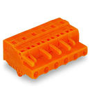 1-conductor female plug; Snap-in mounting feet; 2.5 mm²; Pin spacing 7.62 mm; 9-pole; 2,50 mm²; orange