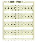 WSB marking card; as card; MARKED; 0, 2, 4, 6, , , 0, 2, 4, 6, 3, 5, 7, , ,1, 3, 5, 7; not stretchable; Horizontal marking; snap-on type; white