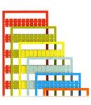WMB marking card; as card; MARKED; U, V, W, N, PE, U, V, W, N, PE (10x); not stretchable; Horizontal marking; snap-on type; orange