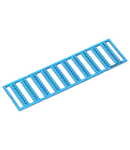 WMB marking card; as card; MARKED; U/V (each 50x); stretchable 5 - 5.2 mm; Horizontal marking; snap-on type; blue