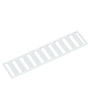 WMB marking card; as card; MARKED; a, b, c, e, u, v, w, x, y, z (10x); stretchable 4 - 4.2 mm; Horizontal marking; snap-on type; white