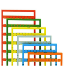 Mini-WSB marking card; as card; MARKED; U, V, W, N, PE, U, V, W, N, PE (10x); not stretchable; Horizontal marking; snap-on type; red