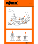 Stickers for operating instructions; for TOPJOB® disconnect terminal blocks; 776 Series