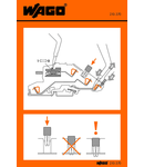 Stickers for operating instructions; for TOPJOB® disconnect terminal blocks; 777, 780 to 784 Series