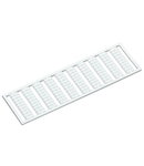 WSB marking card; as card; MARKED; a, b, c, e, u, v, w, x, y, z (10x); not stretchable; Vertical marking; snap-on type; white
