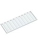 WSB marking card; as card; MARKED; a, b, c, e, u, v, w, x, y, z (10x); not stretchable; Horizontal marking; snap-on type; white