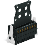 1-conductor female connector, 2-row; 100% protected against mismating; Levers; Strain relief plate; direct marking; 1.5 mm²; Pin spacing 3.5 mm; 36-pole; 1,50 mm²; black