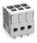 PCB terminal block; 4 mm²; Pin spacing 5 mm; 7-pole; Push-in CAGE CLAMP®; 4,00 mm²; gray