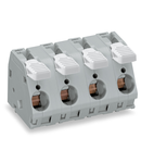 PCB terminal block; lever; 16 mm²; Pin spacing 15 mm; 6-pole; CAGE CLAMP®; 16,00 mm²; gray
