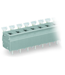 PCB terminal block; push-button; 2.5 mm²; Pin spacing 7.5/7.62 mm; 7-pole; CAGE CLAMP®; commoning option; 2,50 mm²; gray