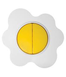 Comutator 16a alb-galben floare