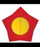 Comutator 16 galben-rosu stea