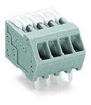 PCB terminal block; Locking slides; 0.5 mm²; Pin spacing 2.5 mm; 15-pole; CAGE CLAMP®; 0,50 mm²; gray