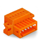 1-conductor male connector; 100% protected against mismating; clamping collar; 1.5 mm²; Pin spacing 3.81 mm; 14-pole; 1,50 mm²; orange