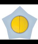 Comutator 16a galben-alb stea