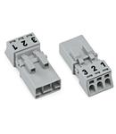 Plug; 3-pole; 1,50 mm²; gray