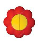 Comutator 16a galben-rosu floare