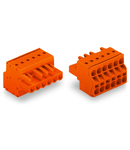 2-conductor female connector; 2.5 mm²; Pin spacing 5.08 mm; 13-pole; 2,50 mm²; orange
