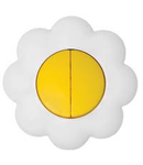 Comutator 16a galben-alb floare