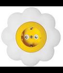 Priza schuko 16a galben-alb floare