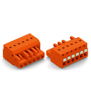 1-conductor female plug; push-button; 2.5 mm²; Pin spacing 5.08 mm; 13-pole; 2,50 mm²; orange